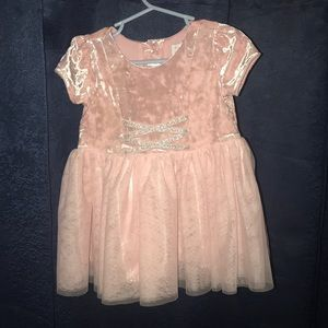 18-24 months Pink & Silver Girls' Glitter Dress